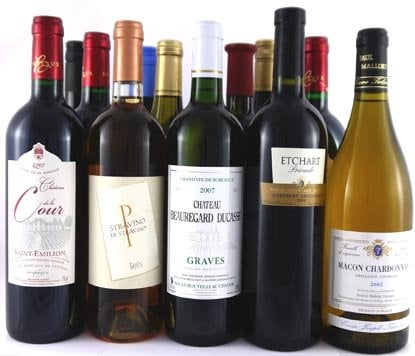 12 bottles mixed red & white in presentation Box