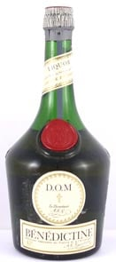 1950's bottling Benedictine Liqueur (50's bottling) 1/2 bottle