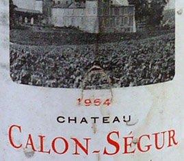 1964 Chateau Calon Segur 1964 St Estephe Grand Cru Classe