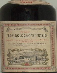 1969 Dolcetto 1969 G Scanavino