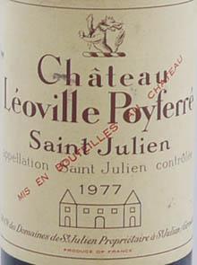 1978 Chateau Leoville - Poyferre 1978 St Julien 2eme Grand Cru Classe