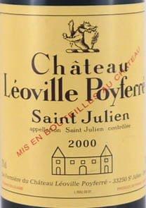 2000 Chateau Leoville - Poyferre 2000 St Julien 2eme Grand Cru Classe