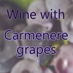 Wine with Carmenere grapes