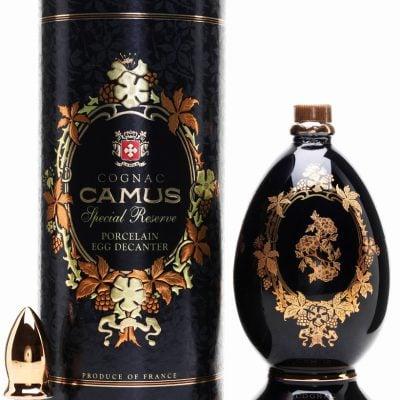 Camus Special Reserve Limoges Porcelain Egg Decanter