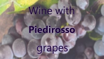 Wine with Piedirosso grapes