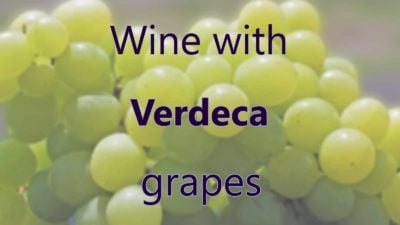 Wine with Verdeca grapes