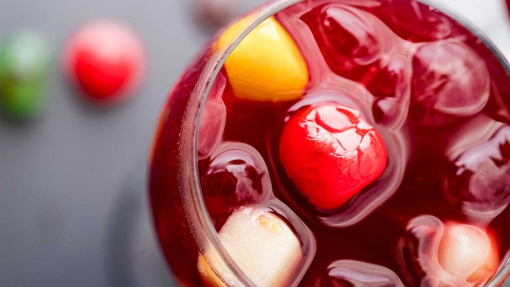 Fruity punch of red Sangria