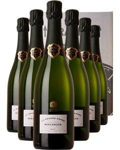 Bollinger Grande Année Six Bottle Champagne Gift 6 x 75cl Bottles