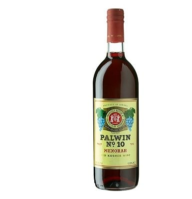 Carmel Palwin No.10 Menorah Red Dessert Wine
