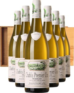Chablis 1er Cru 'Montmains' Six Bottle Wine Gift in Wood 6 x 75cl Bottles