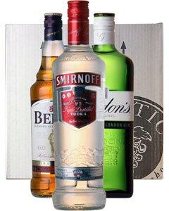 Classic Spirits Three Bottle Gift 3 x 70cl Bottles