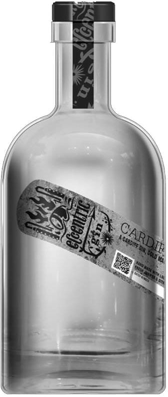 Eccentric - Cardiff Dry Gin 70cl Bottle