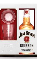 Jim Beam - White Label Glass Pack 70cl Bottle