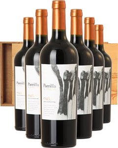 Parrilla Malbec Six Bottle Wine Gift in Wood 6 x 75cl Bottles