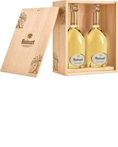 Ruinart Blanc de Blancs NV Champagne Two Bottle Wooden Presentation Case 2 x 75cl Bottles