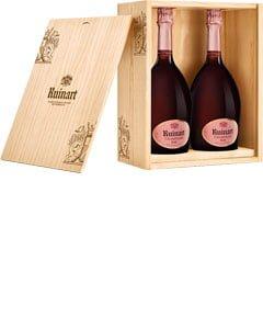 Ruinart Rosé Two Bottle Champagne Wooden Presentation Case 2 x 75cl Bottles
