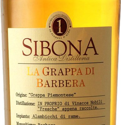 Sibona - Grappa di Barbera 50cl Bottle