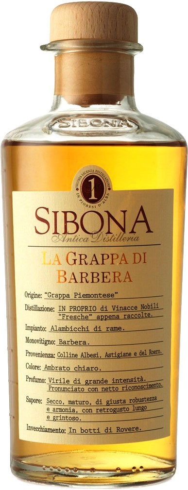 Sibona - Grappa di Barbera 50cl Bottle