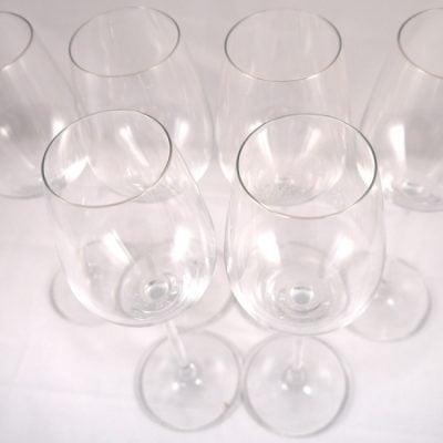 Six Krug Schott Zwiesel Crystal Champagne Glasses