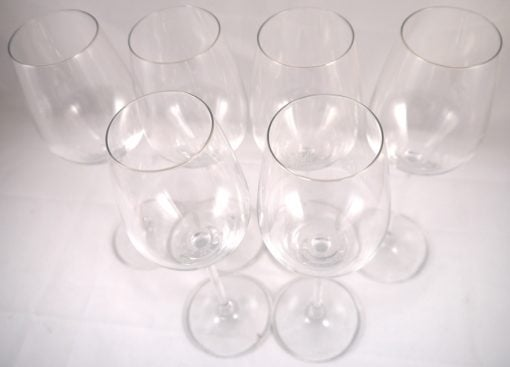 Six Krug Schott Zwiesel Crystal Champagne Glasses