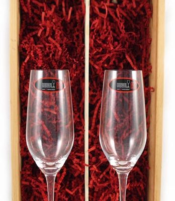 Two Champagne Riedel Crystal Glasses