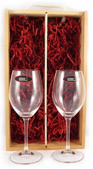Two White Wine Riedel Crystal Glasses