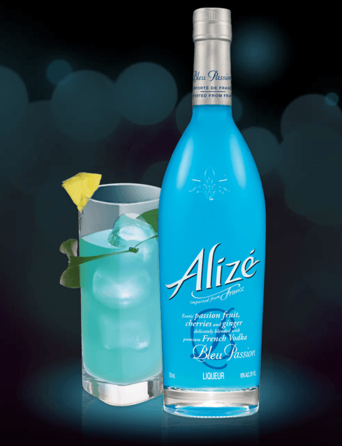 Alizé Bleu Passion cocktails