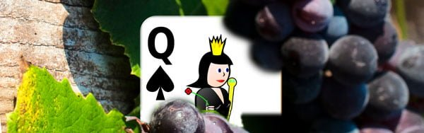 Black Queen grapes card