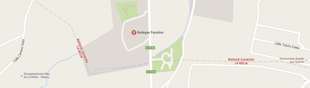 Bodegas Faustino in Álava close to La Rioja