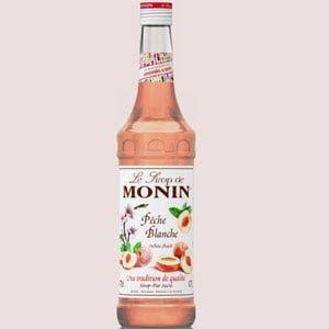 Monin White Peach - Le sirop de Monin peache blanche