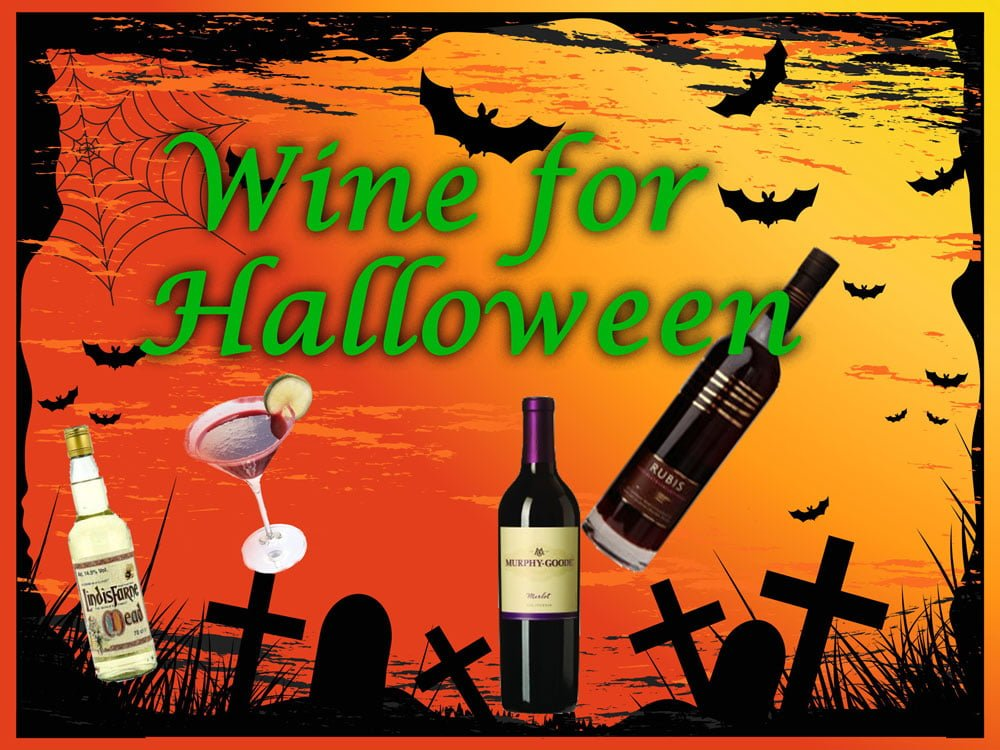 Wine and cocktails for halloween