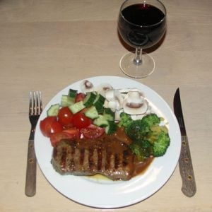 Wine pairing with beef